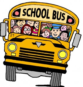 picture of a school bus load of kids